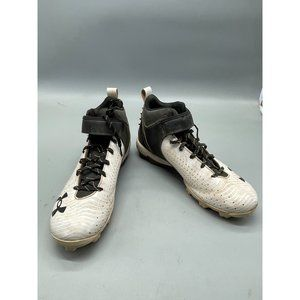 under amour football cleats black white lace up